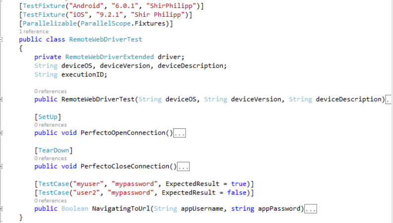 Data-driven and parallel testing in Visual Studio with NUnit