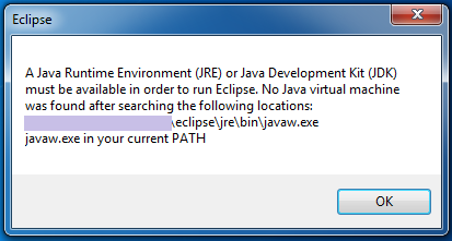 Error: No Java virtual machine in Eclipse - TIPS AND TRICKS