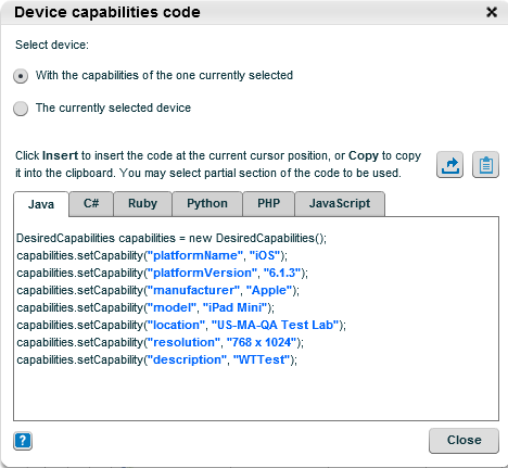 Auto-generated capabilities for device selection - TIPS AND TRICKS