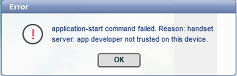 iOS Troubleshooting: Application fails to launch - trust