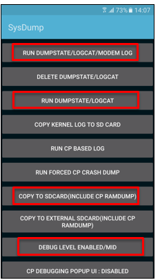 How to obtain dumpstate / logs from Samsung Galaxy devices