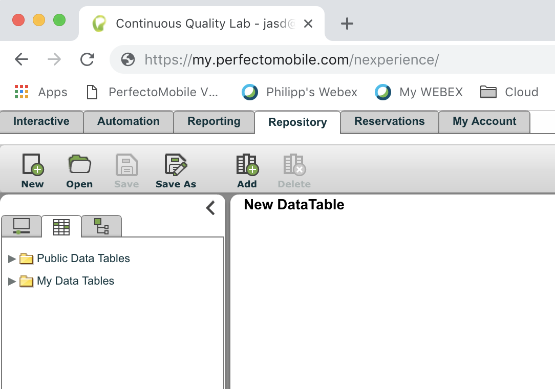 Perfecto IDE: DataTables - TIPS AND TRICKS - Documentation